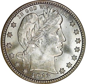 1913 25C MS obverse