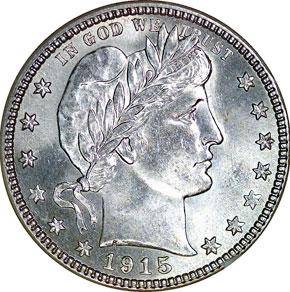 1915 S 25C MS obverse