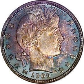 1909 O 25C MS obverse