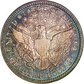 1909 O 25C MS reverse