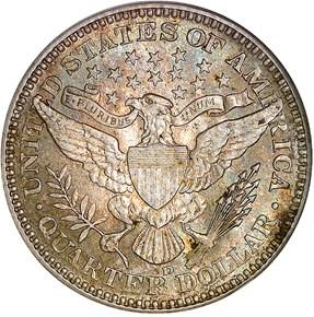 1910 D 25C MS reverse