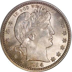 1914 25C MS obverse