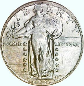1926 D 25C MS obverse
