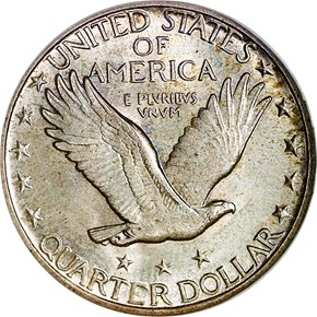 1918 D 25C MS reverse
