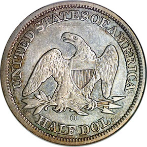 1846 O TALL DATE 50C MS reverse