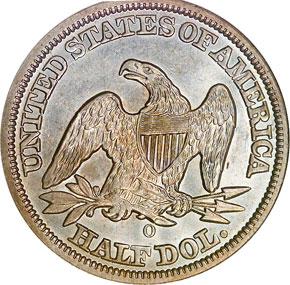 1847 O 50C MS reverse