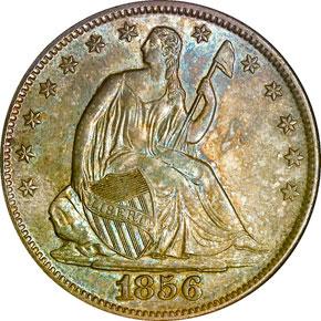 1856 O 50C MS obverse