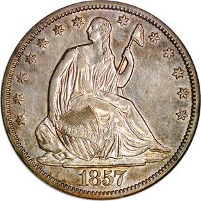 1857 S 50C MS obverse