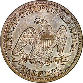 1857 S 50C MS reverse