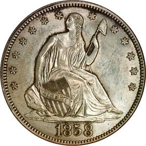 1858 50C MS obverse