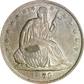 1859 O 50C MS obverse