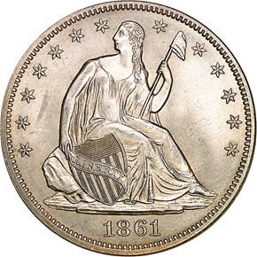 1861 50C MS obverse