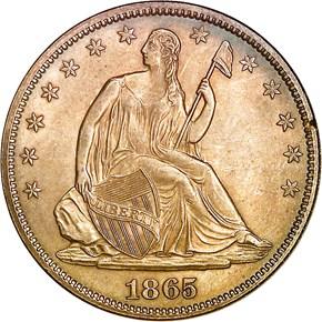 1865 50C MS obverse