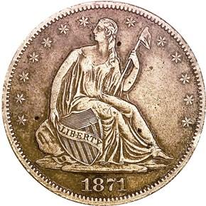 1871 CC 50C MS obverse