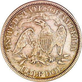 1872 CC 50C MS reverse