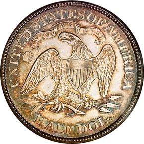 1874 CC ARROWS 50C MS reverse