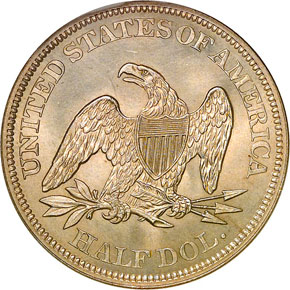 1861 50C MS reverse