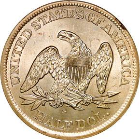 1863 S 50C MS reverse