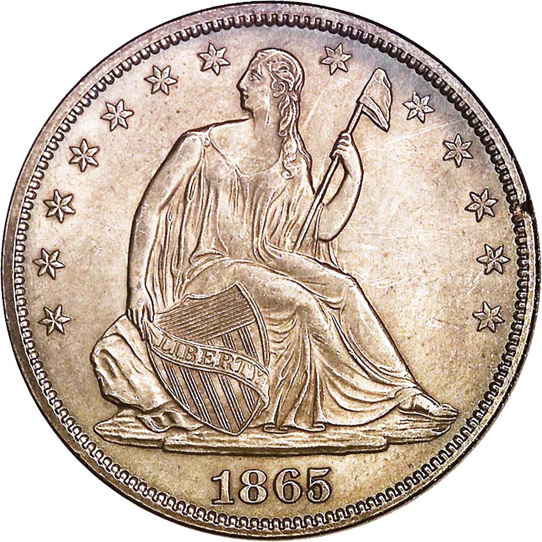1865 50c Ms Seated Liberty Half Dollars Ngc