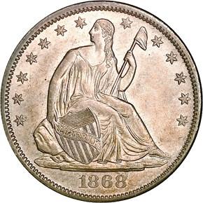 1868 S 50C MS obverse