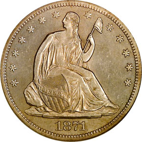 1871 S 50C MS obverse