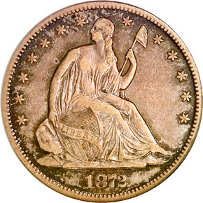 1872 CC 50C MS obverse