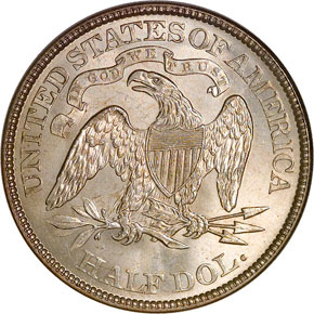 1873 ARROWS 50C MS reverse