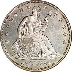 1873 CC ARROWS 50C MS obverse