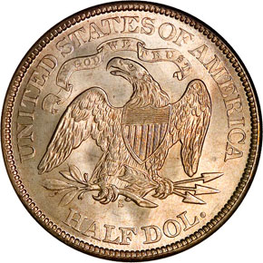 1873 S ARROWS 50C MS reverse
