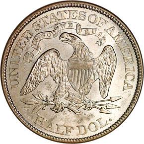 1874 S ARROWS 50C MS reverse
