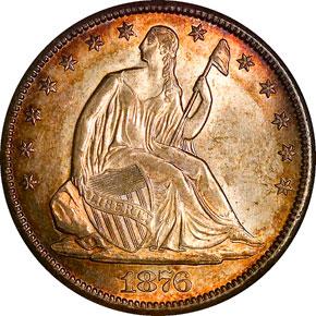 1876 CC 50C MS obverse