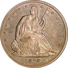 1878 CC 50C MS obverse