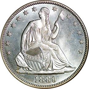 1889 50C MS obverse