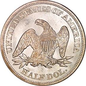 1863 50C MS reverse