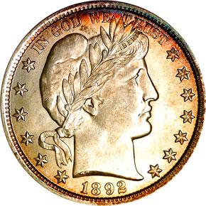 1892 50C MS obverse