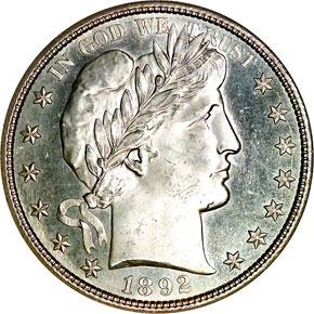 1892 S 50C MS obverse