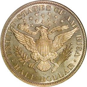 1895 O 50C MS reverse