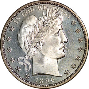 1896 50C MS obverse