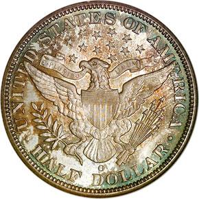 1896 O 50C MS reverse