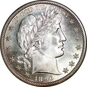 1896 S 50C MS obverse