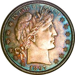 1897 O 50C MS obverse