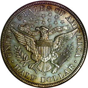 1899 O 50C MS reverse
