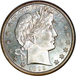 1899 S 50C MS obverse