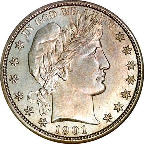 1901 S 50C MS obverse