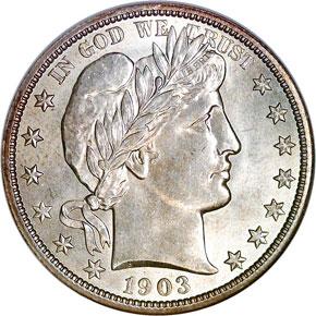 1903 50C MS obverse