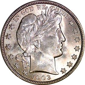 1903 O 50C MS obverse