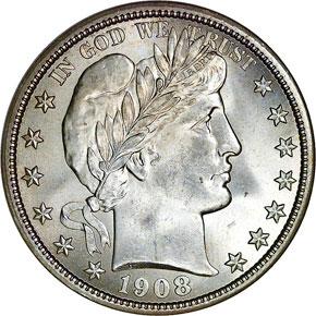 1908 50C MS obverse