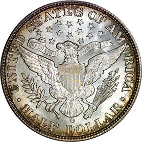 1909 O 50C MS reverse