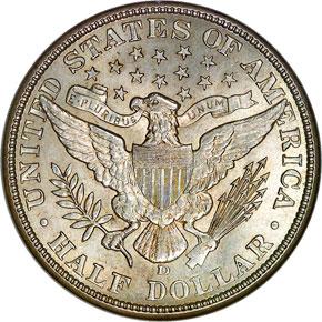 1911 D 50C MS reverse