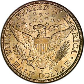 1912 S 50C MS reverse
